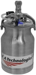 Great for HVLP use. 1 Quart stainless steel Pressure Cup with Check Valve